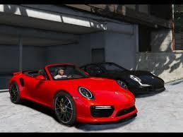 porsche 911 mods gta v porsche 911 turbo s 2016 cabrio gta 5 mod