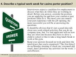casino porter sample resume top 10 casino porter interview questions and answers