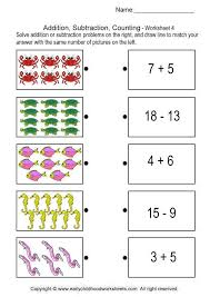 addition subtraction counting brain teaser worksheets 4