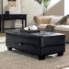 caden leather modern wood coffee table reclaimed mid century
