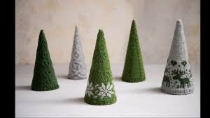 knitted christmas trees knitting kit knitted christmas decoration pattern