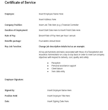 12 free sample employment certificate templates u2013 printable samples