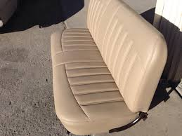 Custom Car Bench Seats Custom Bench Seat For 1956 Ford F100 All Tan Interior Red Exterior