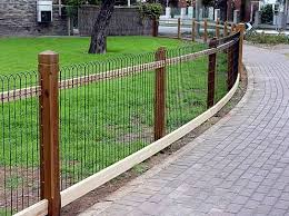 this is a exle of wood posts to support ornamental