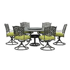 Aluminum Cast Patio Dining Sets - shop sunjoy 7 piece cast aluminum patio dining set at lowes com