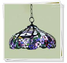 Stained Glass Light Fixtures Dining Room Magnificent Stained Glass Pendant Light Dragonfly Blue Unique