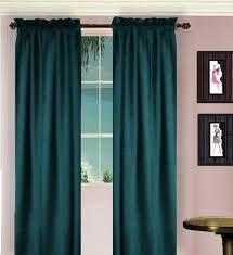Long Drapery Panels Solid Dark Teal Colored Window Long Curtain Available In Many