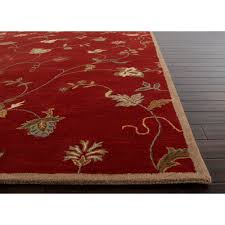 Ivory Area Rug 8x10 Jaipur Living Rug113396 Poeme Coll Hand Tufted Floral Pattern