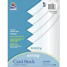 pacon card stock letter paper size 65 lb white 100 sheets by