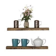Thick Floating Shelves by Floating U0026 Hanging Shelves You U0027ll Love Wayfair
