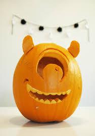 Funny Halloween Birthday Mike Wazowski Pumpkin Elias 1st Birthday Pinterest Mike