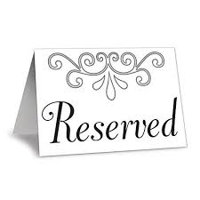 reserved signs for wedding tables table signs reserved wedding amazon com