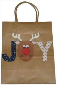 christmas paper bags decorated brown paper christmas bags