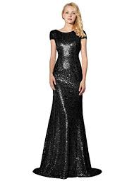 black bridesmaid dresses house women s sequins evening prom gown