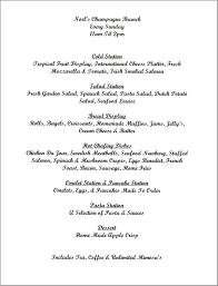 brunch wedding menu wedding brunch menu option one day brunch