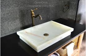 vessel sinks for bathrooms cheap 24 white onyx stone bathroom vessel drop in sink chamonix