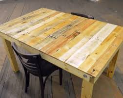 Pallet Dining Room Table Salvaged Wood Table Etsy