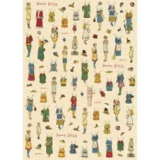 cavallini wrap cavallini paper dolls wrapping paper paper doll doll house