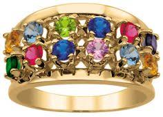 grandmother rings 12 mothers ring with diamonds 12 stones rings and
