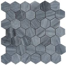 Marble Mosaic Floor Tile Gray Honed 2