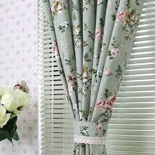 Sage Green Drapes Country Style Bud Green Little Floral Cotton Curtains Buy Bud