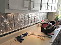 Lowes Kitchen Backsplash Tile Glass Inspirations And Metal Tiles - Metal tiles backsplash