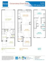 row home floor plans curtis home plan by thrive home builders in conservatory green
