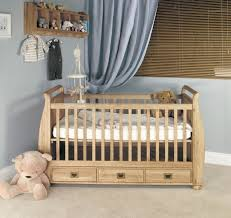 Orchard Sleigh Cot Toddler Bed White Amelie Oak Cot Bed With Three Drawers Amelie Oak Children U0027s