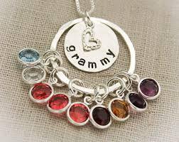 grandmother birthstone necklace grandmother necklace etsy