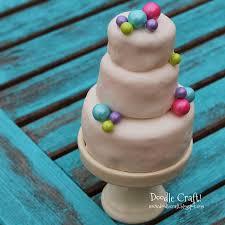 doodlecraft mini 3 tier wedding cake cupcakes