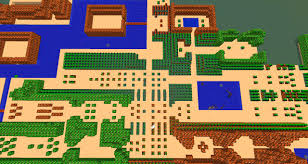 Map Of Hyrule 8 Bit Hyrule Legend Of Zelda Minecraft Project