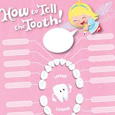 tooth tracker lost tooth chart tooth chart tooth fairy and teething