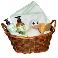 Bath Gift Basket Baby Bath Gift Basket All Natural Unisex