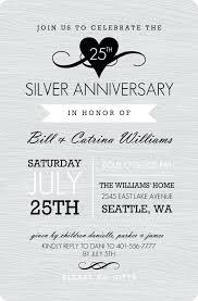 silver anniversary ideas 25 wedding invitations wedding invitation format silver wedding