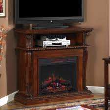 Corner Tv Stands With Fireplace - corinth infrared electric fireplace media console in vintage