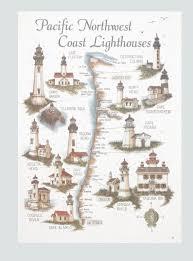 map of oregon lighthouses map of pacific northwest coast lighthouses oregon washington