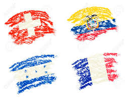 How To Draw Country Flags Crayon Draw Of Group E Worldcup Soccer 2014 Country Flags