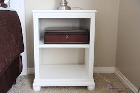 nightstand beautiful white stained wood bedside table design for