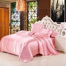 shop for 4pcs silk satin duvet cover set with flat sheet queen