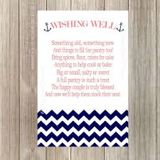 wedding wishes nautical instant wedding wishing well cards pantry party