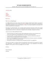 cover letter cover letter sample administrative cover letter