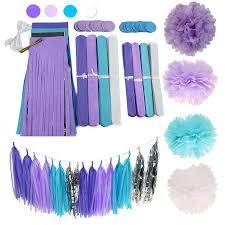 amazonsmile 26pcs purple lavender baby blue white baby shower