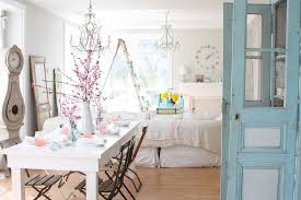 shabby decor dining room shabby chic style with table setting