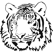 tiger face coloring pages jpg 1200 1200 stencils pinterest