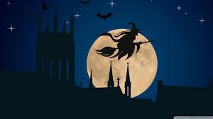 hd halloween wallpapers 1080p halloween witch flying hd desktop wallpaper widescreen high