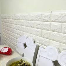 quality white 3d modern design brick wallpaper roll vinyl wall