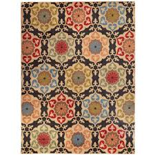 home decorators area rugs home decorators collection amelia medallion black 7 ft 10 in x