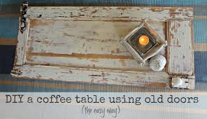 coffee table made from an old door see here u2014 coffee tables ideas