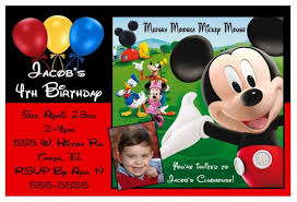 mickey clubhouse birthday invitations gallery invitation design