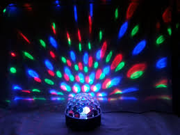 19cm lumineo indoor led disco ball with multicolour lights sound